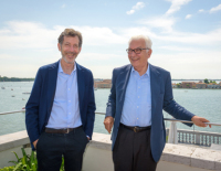 Ralph Rugoff and Paolo Baratta, via Art News