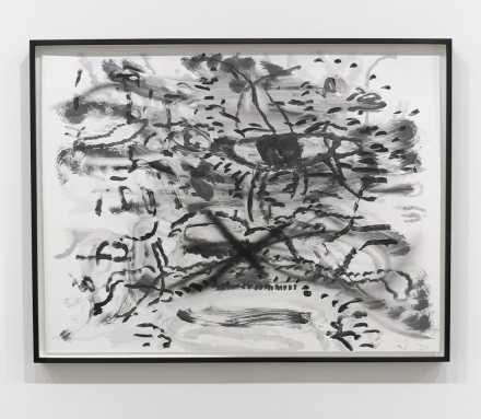 Julie Mehretu, Monotype #6 (2018), via Art Observed