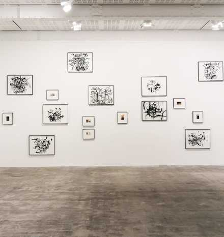 Julie Mehretu and Tacita Dean (Installation View), via Art Observed