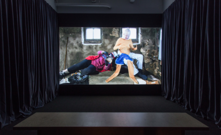Tony Oursler, TC: The Most Interesting Man Alive (Installation View), via Lisson Gallery