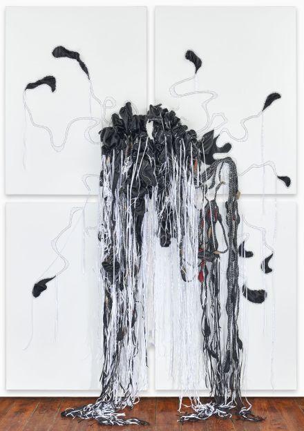Nicholas Hlobo, Phantsi Komngcunube (2017), via Lehmann Maupin