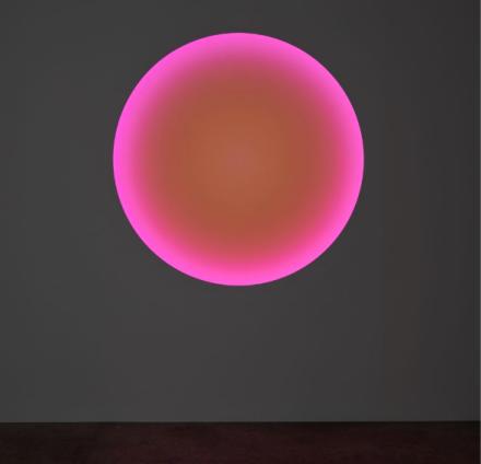 James Turrell, Logos (97) Medium Glass Circle (2017), via Kayne Grifffin Corcoran