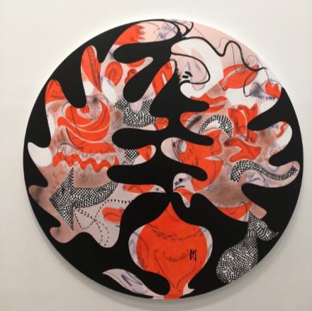 Charline von Heyl, New Work (Installation View), via Art Observed