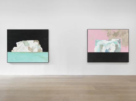Harold Ancart, Freeze (Installation View), via David Zwirner