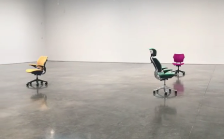 Urs Fischer, PLAY with Choreography by Madeline Hollander (Installation View), via Art Observed