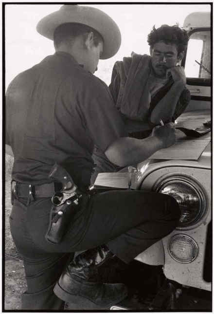 Danny Lyon, Border Patrol, El Paso Texas (1973), via GAvin Brown's