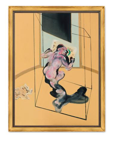 Francis Bacon, Figure in Movement (1972), via Christie's
