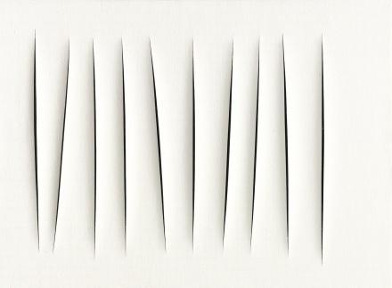 Lucio Fontana, Concetto Spaziale, Attese (1964), via Sotheby's
