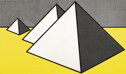 Roy Lichtenstein, Pyramids (1968),via Sotheby's