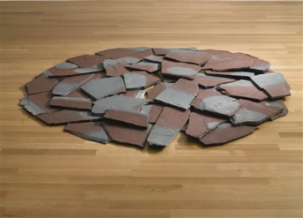 Richard Long, Red-Blue Slate Circle (1985), Cardi Gallery