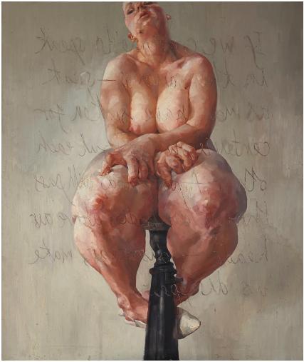 Jenny Saville, Propped (1992), via Sotheby's