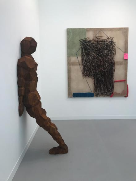 Antony Gormley, FRONT, (2016) and Alvaro Barrington, A Straight Face, (2018) at Thaddaeus Ropac.jpg