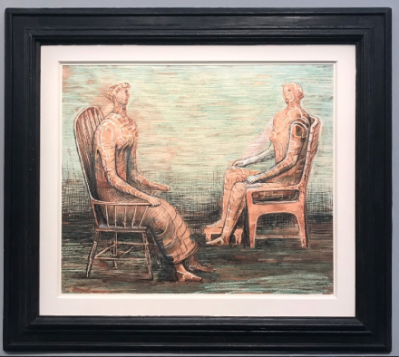 Henry Moore, Two seated women (1948) at Hazlitt Holland-Hibbert