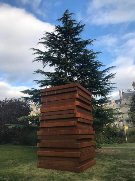 Sean Scully, Shadow Stack (2018) in the Sculpture Park