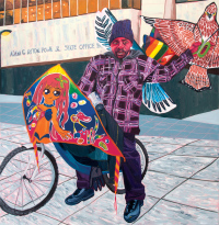 Jordan Casteel, Kevin the Kiteman, 2016, via Art News