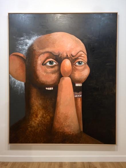 George Condo, Old Man Portrait (2011) at Skarstedt, via Andrea Nguyen for Art Observed