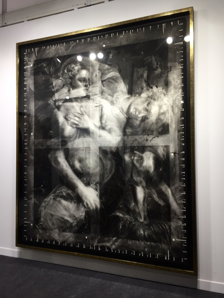 Robert Longo Untitled (X-Ray of Venus with a Mirror, 1555, After Titian) (2016-2017) at Metro Pictures, via Andrea Nguyen for Art Observed