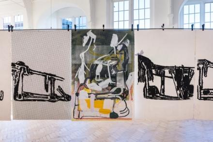Amy Sillman, Landline (Installation View), via Camden Arts Cenre