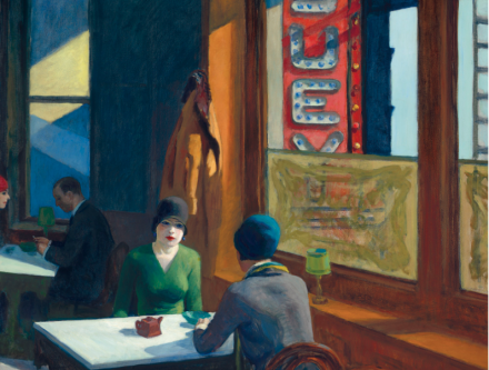Edward Hopper, Chop Suey (1929), via Christie's