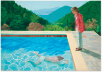 David Hockney, Portrait of an Artist (Pool with Two Figures) (1972), via Christie's