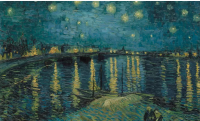 Vincent van Gogh's painting Starry Night Over the Rhône, via The Guardian