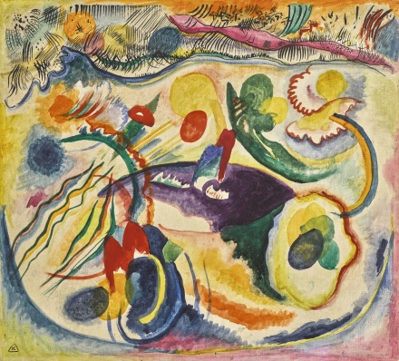 Wassily Kandinsky, On the Theme of the Last Judgement (1913), final price $22,879,000, via Sotheby's
