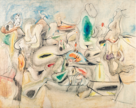 Arshile Gorky, Good Afternoon, Mrs. Lincoln (1944), Final Price $14,037,500, via Christie's