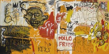 Jean Michel-Basquiat, Untitled (Pollo Frito) (1982) Final Price $25,701,500, via Sotheby's