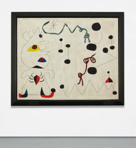 Joan Miro, Femme dans la nuit (1945), Final Price $22,590,000, via Phillips