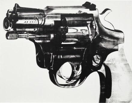 Andy Warhol, Gun (1982), Final Price $8,977,500, via Phillips