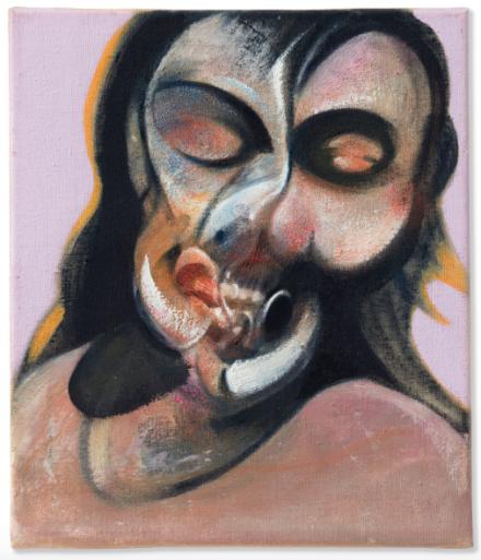 Francis Bacon, Study of Henrietta Moraes Laughing (1969), Final Price $21,687,500, via Christie's