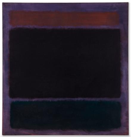 Mark Rothko, Untitled (Rust, Blacks on Plum) (1962), Final Price $36,312,500, via Christie's