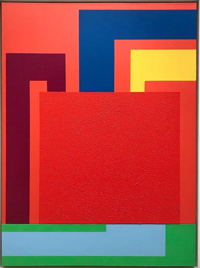 Peter Halley, Unseen Paintings (Installation View), via Sophie Kitching for Art Observed