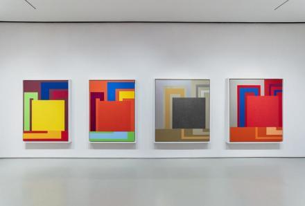 Peter Halley, Unseen Paintings (Installation View), via Sperone Westwater.
