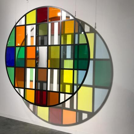 Daniel Buren at Bortolami, via Art Observed