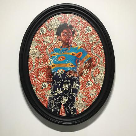 Kehinde Wiley at Sean Kelly, via Art Observed