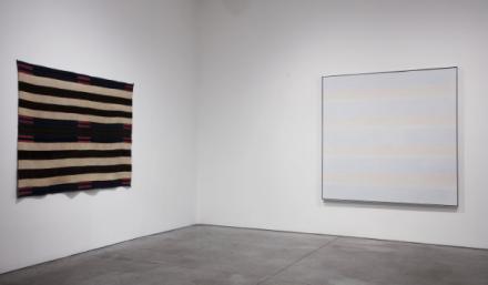 Agnes Martin-Navajo Blankets, via Pace Gallery