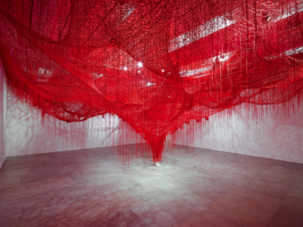 Chiharu Shiota, Me Somewhere Else (2018), via Blain Southern