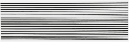 Bridget Riley, Horizontal Vibration (1961), via Spruth Magers