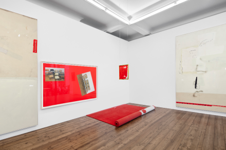 David Ostrowski, The Thin Red Line(Installation view), courtesy Sprüth Magers
