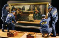 Leonardo da Vinci's The Annunciation, via Art Newspaper