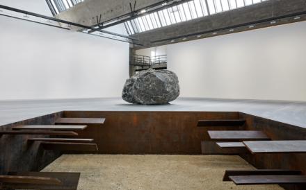 Michael Heizer (Installation View), via Gagosian