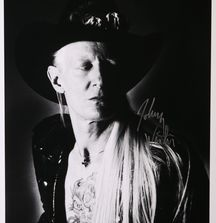 Johnny Winter -1991 Limited Edition Photograph Signed by Rock & Roll Photographer Mark Weiss and Johnny Winter