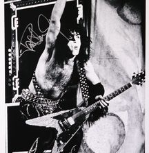 Paul Stanley of KISS - 1977, Limited Edition Photograph Signed by Rock & Roll Photographer Mark Weiss and Paul Stanley