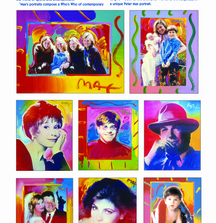 Custom Peter Max Portrait Created from Your Favorite Photograph