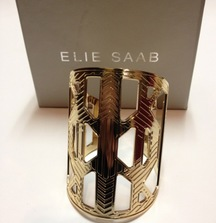 Sparkle with this Elie Saab Large Gold Cuff