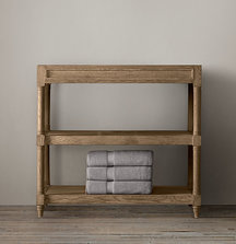 Restoration Hardware Weathered Oak Single Washstand Base