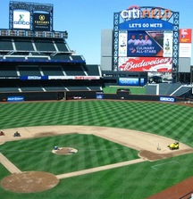 See the New York Mets with Pre-Game Field Passes and 4 Field Level tickets to a 2014 Home Game