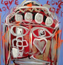 Buddha Love, 2013 Painting by Domingo Zapata