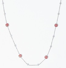Take Home This Beautiful Damiani Silver and Orange Diamond Necklace